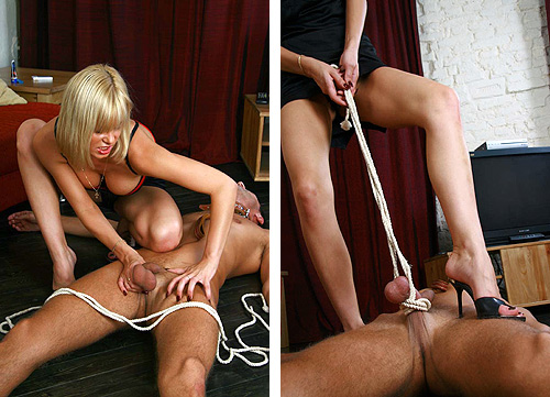 Rope Cock Torture